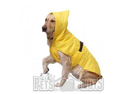 Zorba Dual Protection Safety Raincoat for Large Dogs, yellow, 30 inch