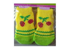 Bobo Anti Slip Socks for Toy to Small Breed Dogs, yellow flower, small