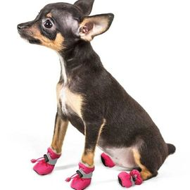 Pet Artist Reflective Waterproof Anti Skid Socks Shoes for Small Dogs and Cats, pink, large