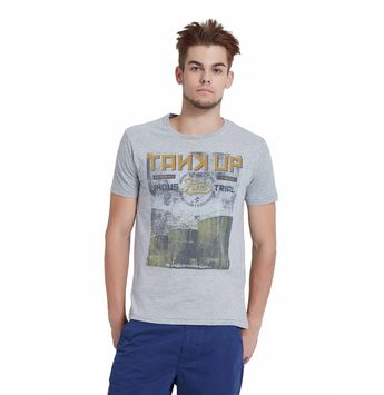Breakbounce Kemen Regular Fit T-Shirt,  light grey melan, m