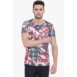 Breakbounce Brooke Men's Casual T-Shirt, m,  white/brown
