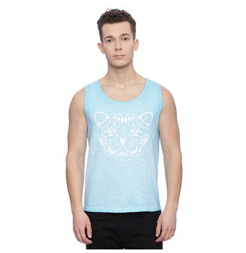 Crest Blue Solid Slim Fit Vest, s,  blue