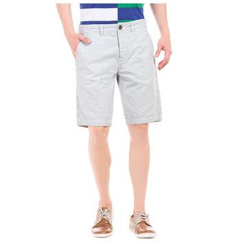 TUNNEL GREY Slim Fit Solid Shorts,  grey, 36