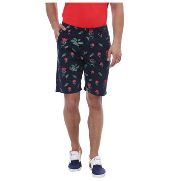 Breakbounce Mambe Comfort Fit Printed Shorts,  navy, 30