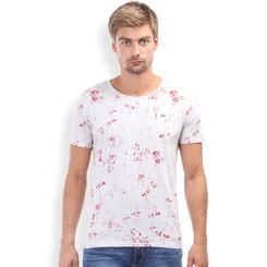 Breakbounce Kawe Slim Fit T Shirt,  light grey/cranbery, xl