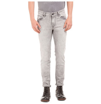 HEATH LNS GREY Slim Fit Solid Jeans,  grey, 28