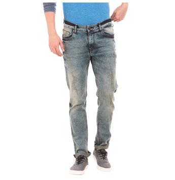FORD MEDIUM BLUE Slim Fit Solid Trouser,  blue, 34