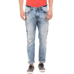 BRICK LT BLUE Slim Fit Solid Jeans,  blue, 32
