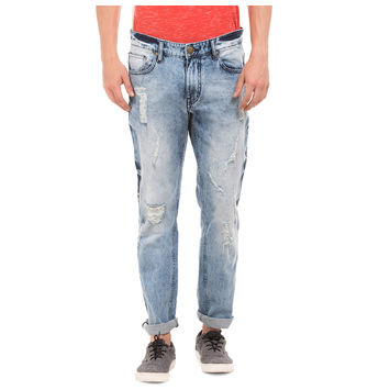 BRICK LT BLUE Slim Fit Solid Jeans,  blue, 30