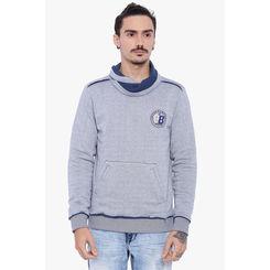 Breakbounce Gilroy Men's Casual Sweatshirt, l,  navy grindle