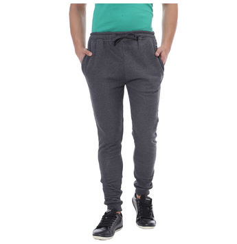 Breakbounce Habeto Skinny Fit Solid Joggers,  dark grey melange, 32