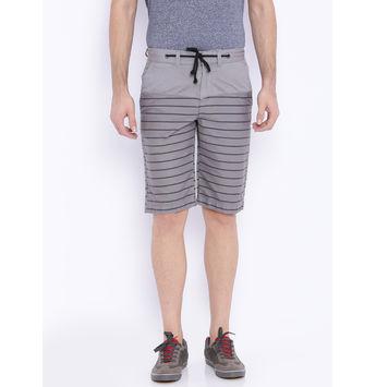 Breakbounce Erwin Printed Slim Fit Shorts,  mid grey, 30