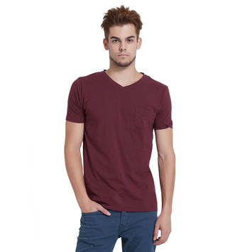 Breakbounce Ember Regular Fit Casual T-Shirt,  bourgogne, s