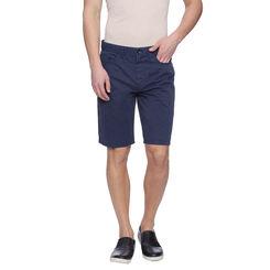 Bard Royal Blue Solid Slim Fit Shorts, 32,  royal blue