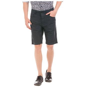 VORN BATTLESHIP GREY Slim Fit Solid Shorts,  navy blue, 32