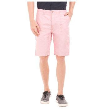 SEYMOUR SAND PEACH Slim Fit Solid Shorts,  blue, 32
