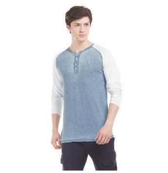 JACOB Turkish Blue Regular Fit Solid T-Shirt,  blue, m