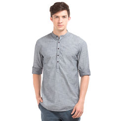 ALICE INDIGO Slim Fit Printed Shirt,  indigo, m