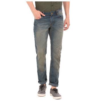 WALKER LT BLUE Slim Fit Solid Trouser,  blue, 30