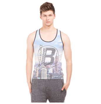 FORGE Dream Blue Regular Fit Printed Vest,  blue, m