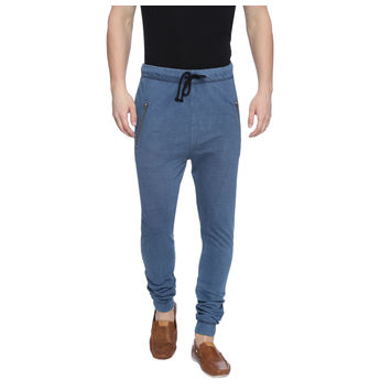 Hillard Light Indigo Solid Regular Fit Joggers, 28,  light indigo