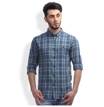 Breakbounce Boge Men's Casual Slim Fit Shirt, m,  navy blue