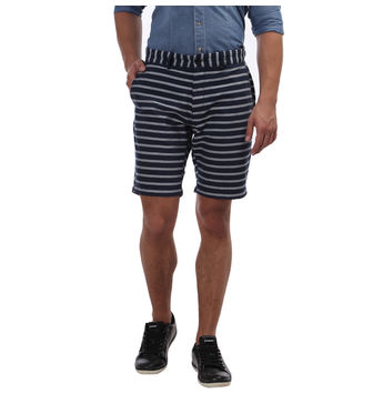 Breakbounce Carlton Comfort Fit Printed Shorts,  navy strips, 28