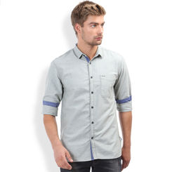 Breakbounce Bjorn Men's Casual Slim Fit Shirt, xl,  fjord green