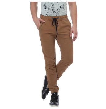 Breakbounce Safari Slim Fit Solid Joggers,  khaki, 32