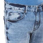MONK LT BLUE Slim Fit Solid Jeans,  blue, 38