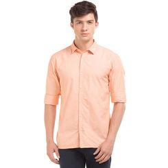 BALTIC LT ORANGE Slim Fit Solid Shirt,  green, m