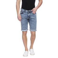 Killick Light Blue Washed Slim Fit Shorts, 32,  light blue