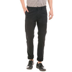 MILTON BLACK Slim Fit Solid Trouser,  brown, 32