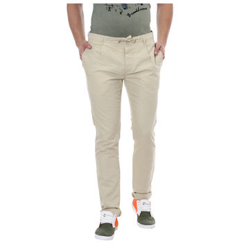 Breakbounce Clifton Slim Fit Solid Trousers,  beige, 32