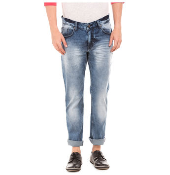 OXFORD MEDIUM BLUE Slim Fit Solid Jeans,  blue, 30