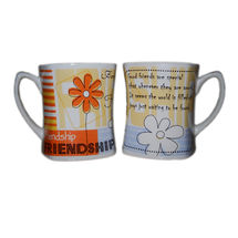 Friendship Message Milk and Coffee Mugs - Flowers, regular