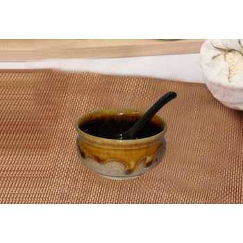 Matte Finish Soup Bowls - Set of 6 bowls with spoons, regular