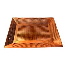 Hand carved Wooden Serving Tray - Square, regular