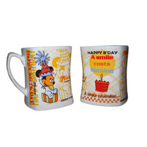 Happy Birthday Message Milk and Coffee Mugs - Mickey, regular