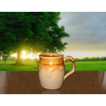 Matte Finish Coffee Mug - Drum Shape - Set of 2, regular