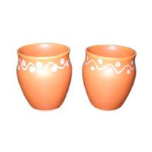Tea Kulhadd with Flower design - Set of 6, regular