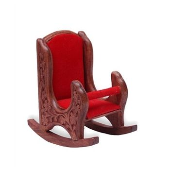 Beautifully crafted Rocking chair shape wooden Mobile Stand, regular