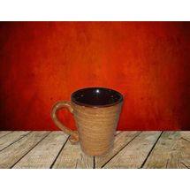 Matte Finish Coffee Mug - Coffe Color - Set of 2, regular