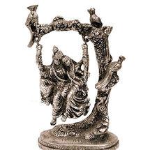 White Metal Radha Krishna Jhoola, regular