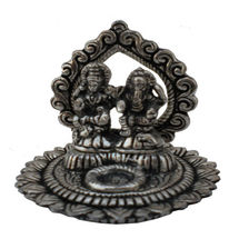 White Metal Kamal Laxmi Ganesh Incense Stick holder, regular