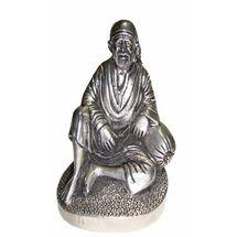 White Metal Sai Baba, regular