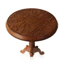 Beautifully crafted Wooden multipurpose portable Table with finest carving, regular