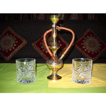 Decorative Brass Hukkah, regular