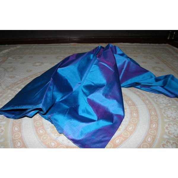 Bishnupuri Silk Saree in Solid/Plain Colours 6