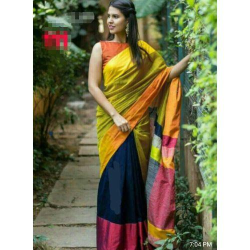 Mahapar Cotton Silk Saree 6.3 metre length with Blouse Piece 21